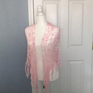 LuLu dusty pink shawl